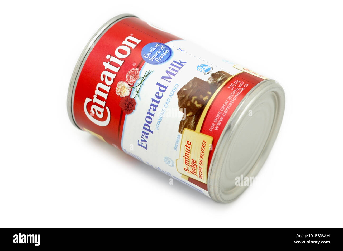 Tin of Evaporated Milk - Stock Image