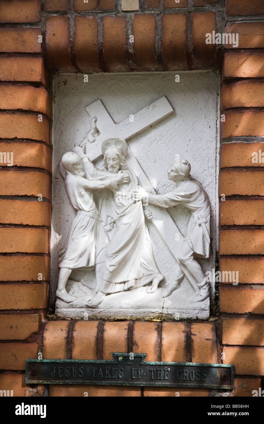 The Upper and Lower Gardens of Mount St. Sepulchre house the 14 Stations of the Cross. - Stock Image