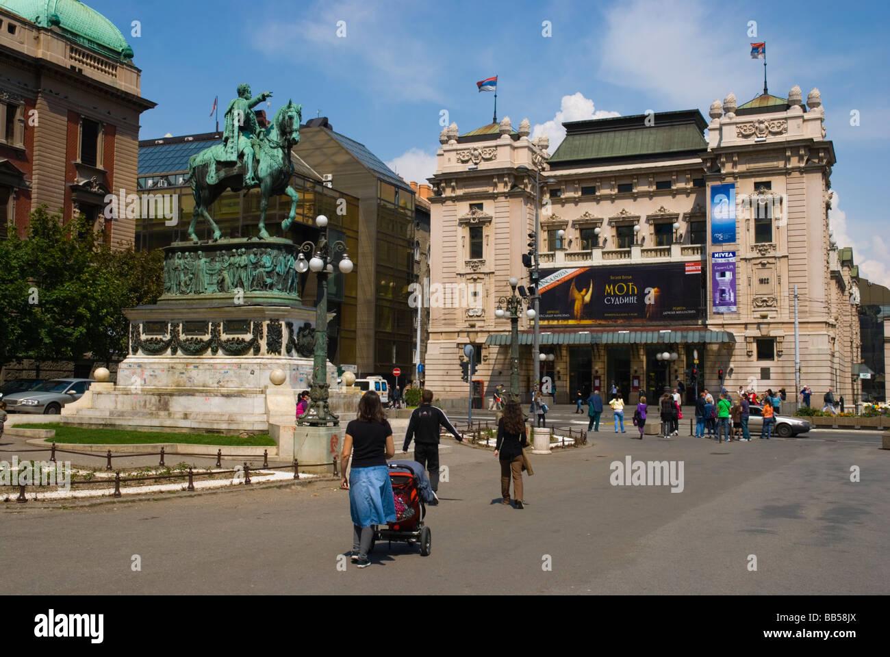 Trg Republike square in central Belgrade Serbia Europe Stock Photo