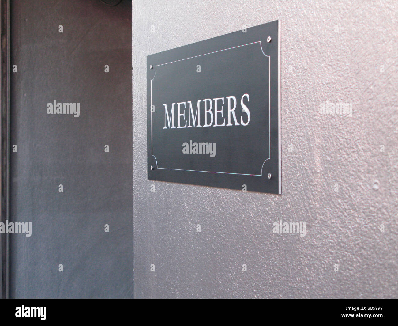 Member only entrance of a bar/club - Stock Image