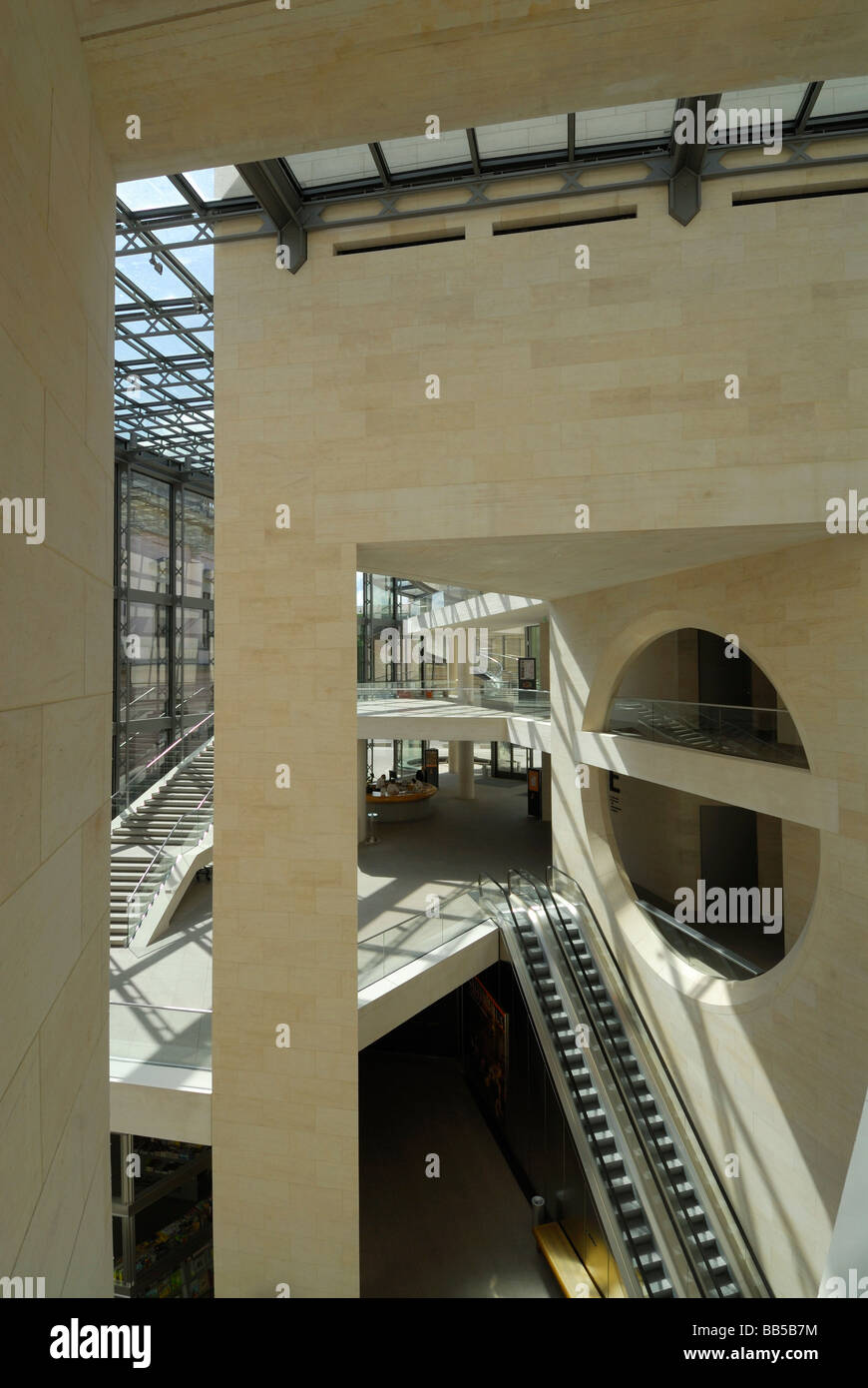 Berlin Germany New wing of the German Historical Museum Deutsches Historisches Museum designed by IM Pei - Stock Image