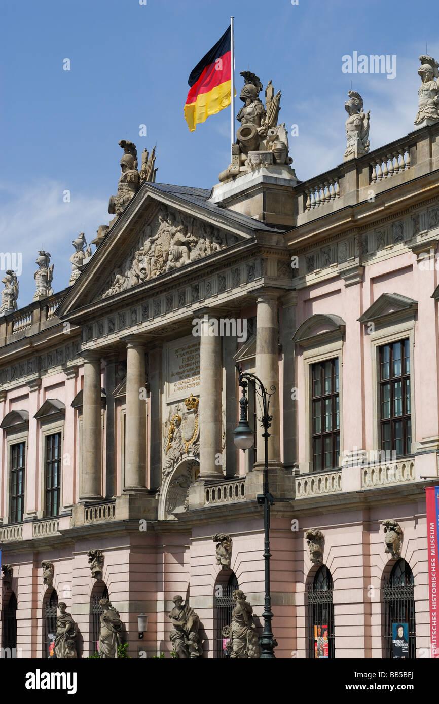 Berlin Germany Exterior of German Historical Museum Deutsches Historisches Museum on the Unter den Linden - Stock Image