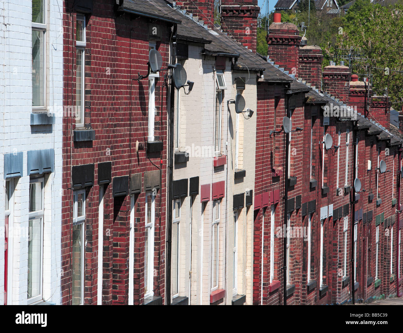 Terraced Houses - Stock Image
