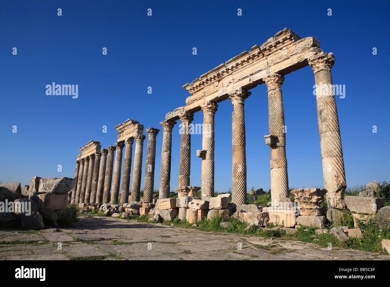 The Ruins of Apamea, Syria - Stock Image