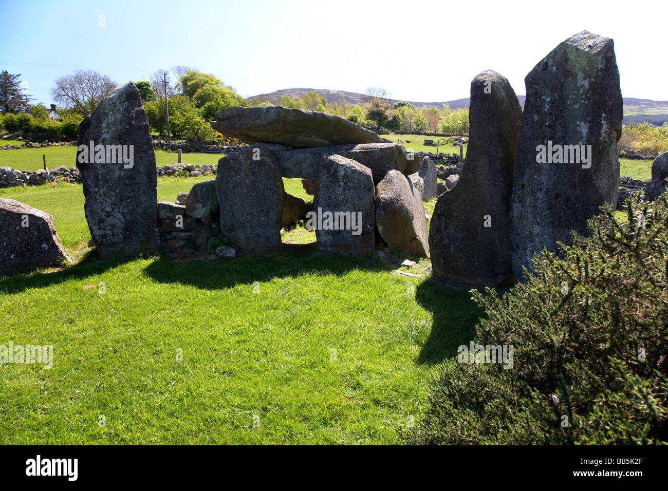 clontygora court tomb known as the kings ring south county armagh northern ireland uk Stock Photo