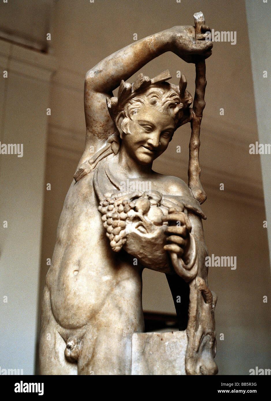 Dionysus Latin Bacchus Greek God Of Wine Drunk Half Length