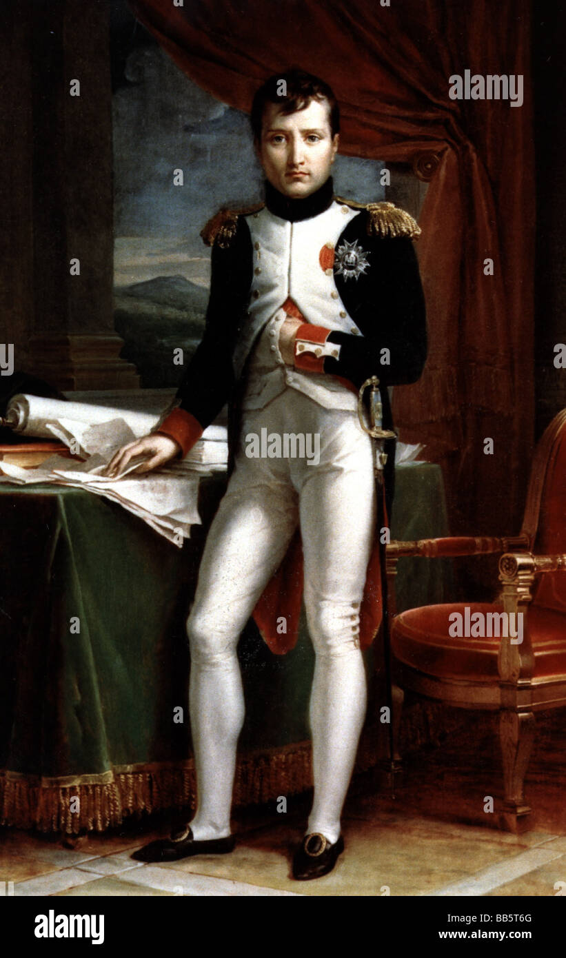 Napoleon I, 15.8.1769 - 5.5.1821, Emperor of the French 1804 - 1815, full length, in uniform, painting by Francois - Stock Image