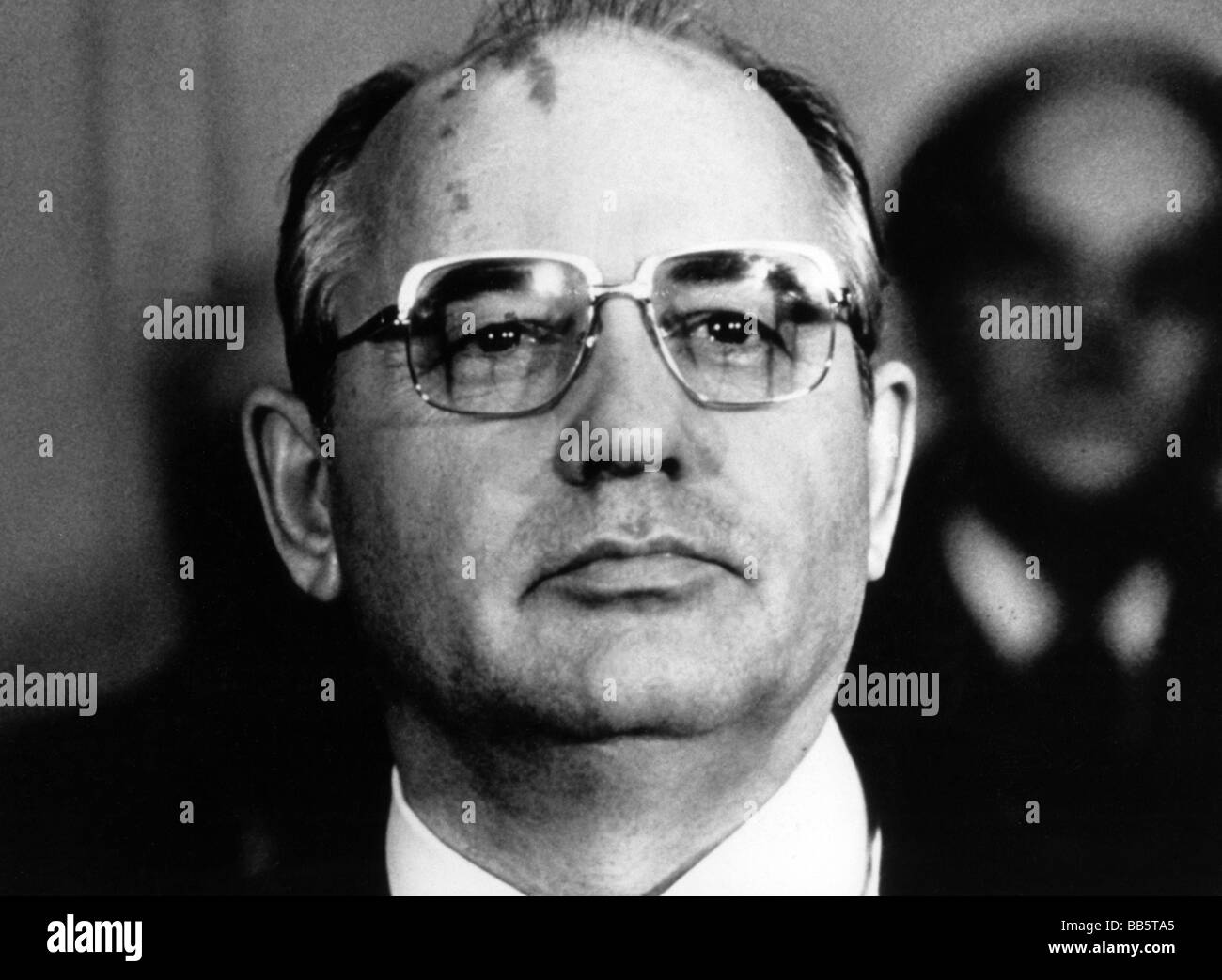 Gorbachev, Mikhail, * 2.3.1931, Soviet politician (KPdSU), portrait, 1980s, Additional-Rights-Clearances-NA - Stock Image