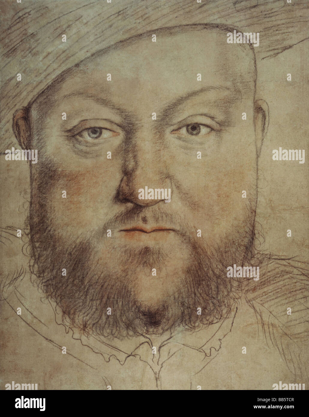 Henry VIII, 28.6.1491 - 28.1.1547, King of England since 1509, portrait, painting by Hans Holbein the Younger (1497 - 1543), Artist's Copyright has not to be cleared Stock Photo