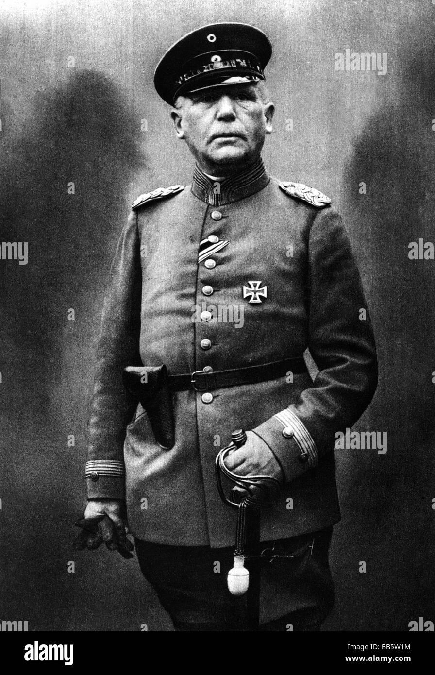 Einem, Karl Wilhelm von, called von Rothmaler, 1.1.1853 - 7.4.1934, German general, minister of war, half length, - Stock Image