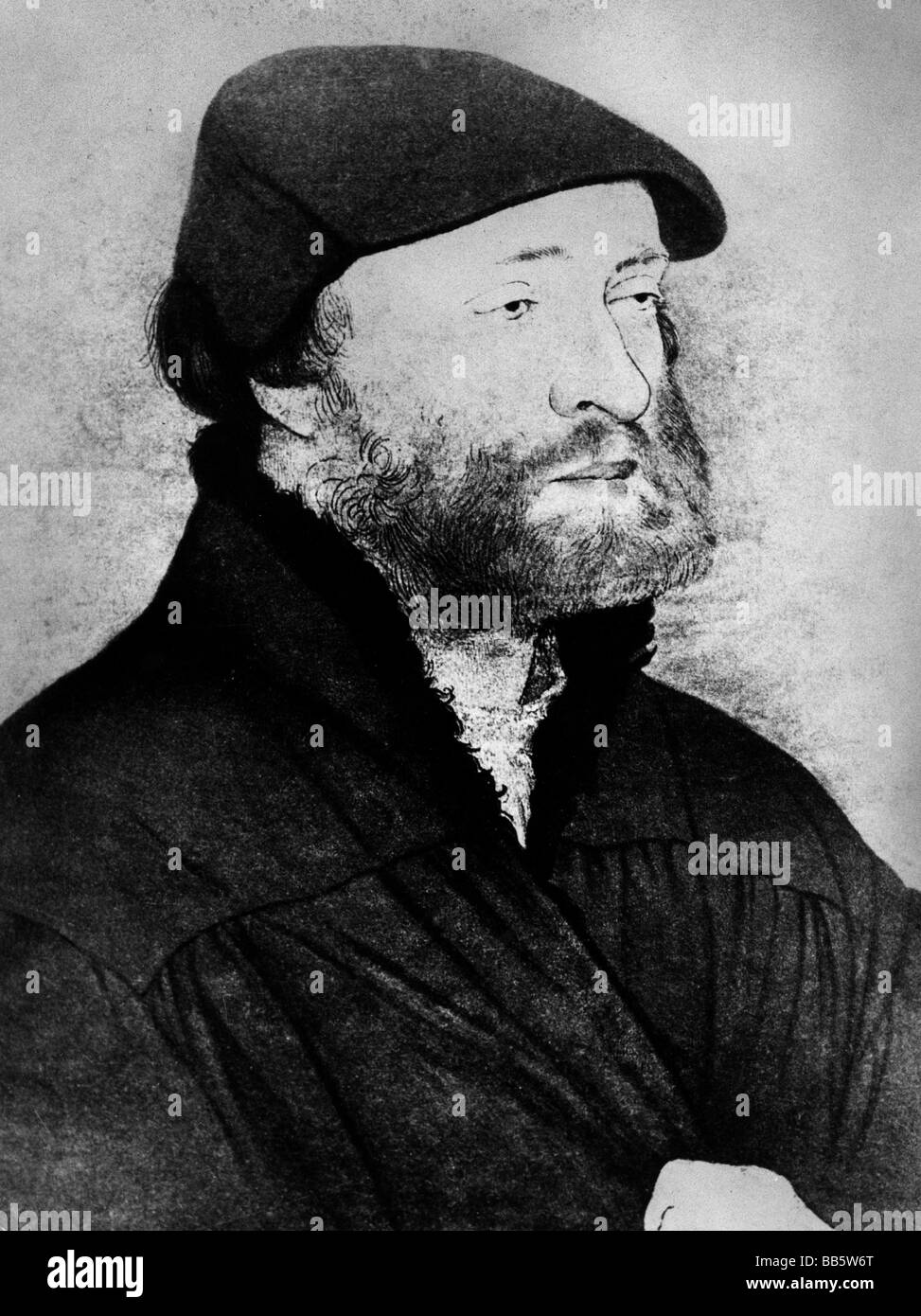 Holbein, Hans, the Younger, 1497 - 29.11.1543, German artist (painter and draughtsman), self-portrait, in the age - Stock Image