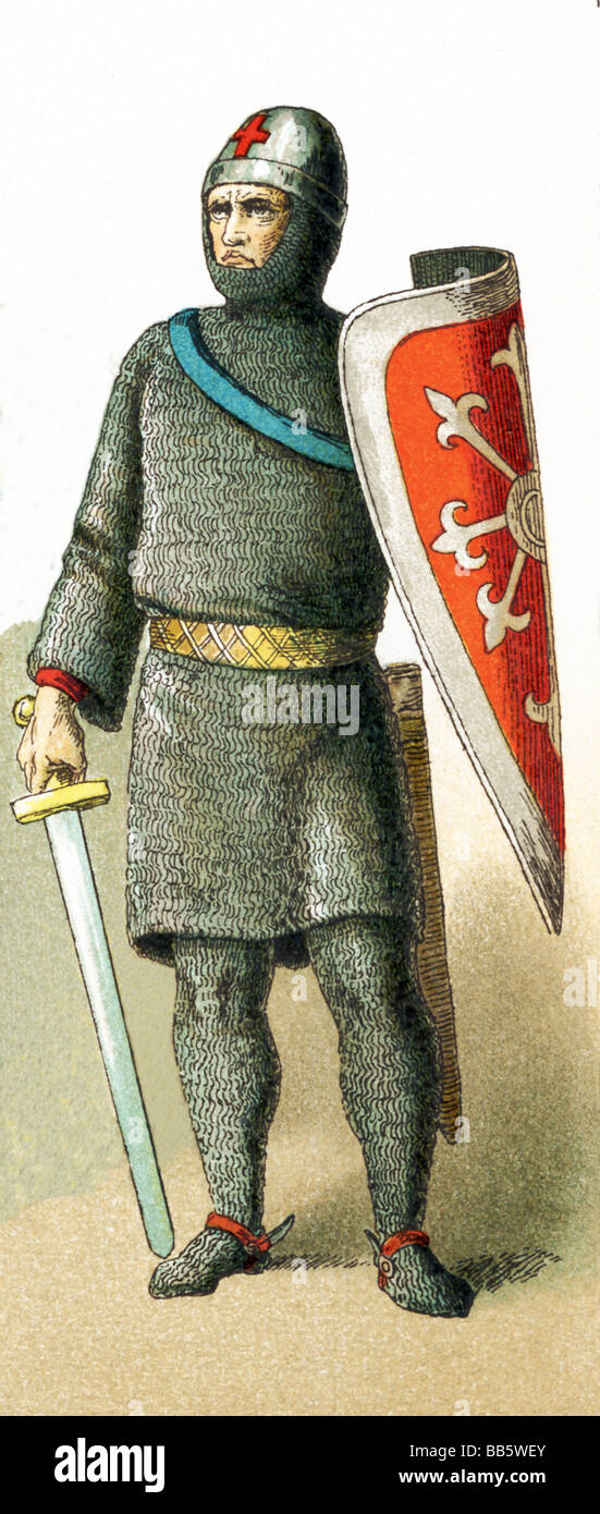French Knight of First Crusade - Stock Image