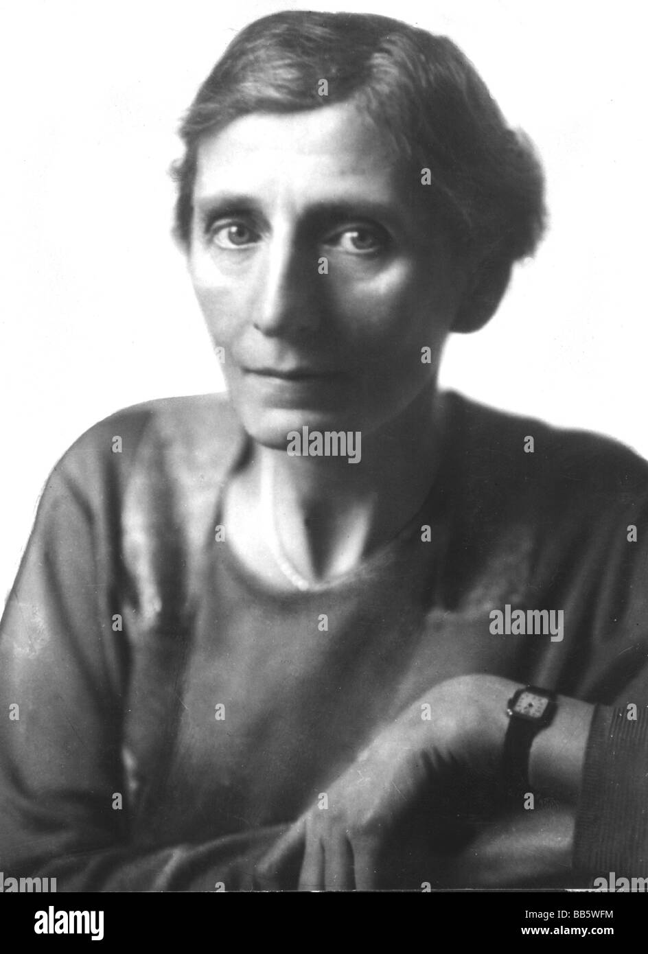 Salomon, Alice, 19.4.1872 - 30.8.1948, German social reformer, portrait, circa 1920, Additional-Rights-Clearances - Stock Image