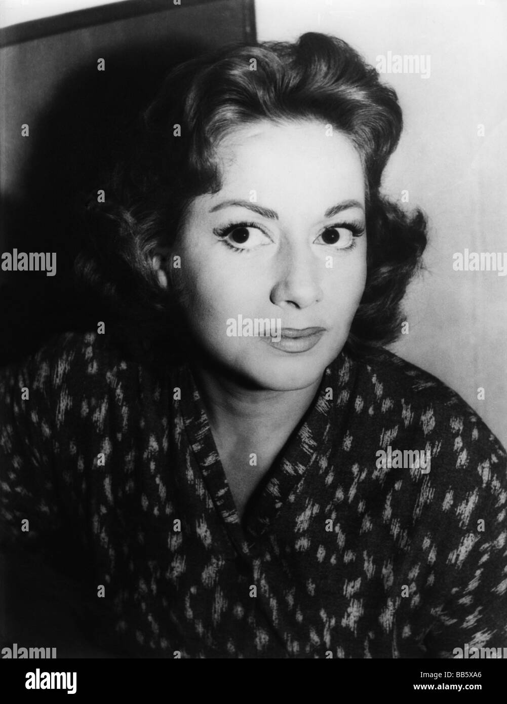 Merlini, Marisa, 8.8.1923 - 27.7.2008, Italian actress, portrait, later 1950s, Additional-Rights-Clearances-NA - Stock Image