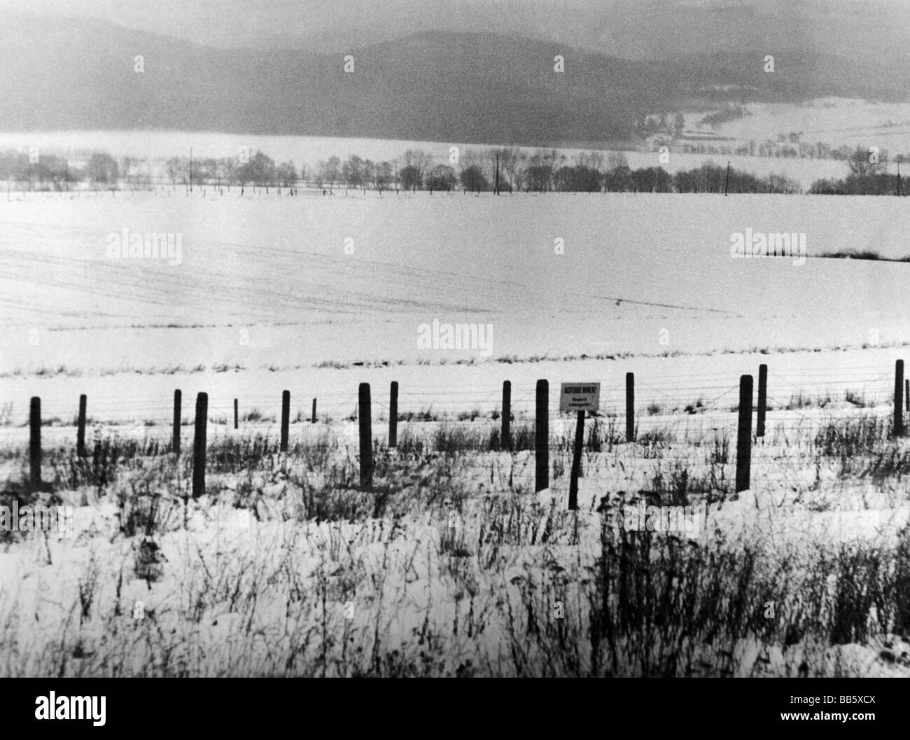Genial Geography / Travel, Germany, Inner German Border, Near Bad Sachsa, Harz,  January 1969, Winter, Snow, Lower Saxony, East, Zonal B