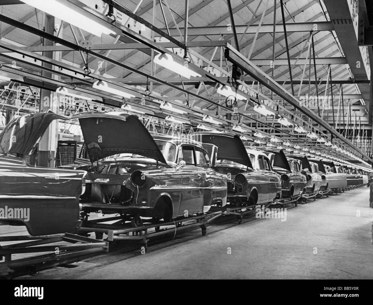 industry car industry opel factory k 40 interior view 1950s stock photo 24102535 alamy. Black Bedroom Furniture Sets. Home Design Ideas