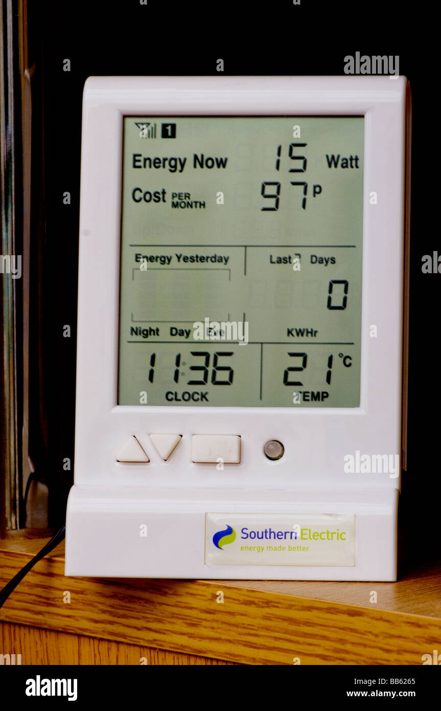 Southern Electric power electrical electric energy Usage Monitor - Stock Image