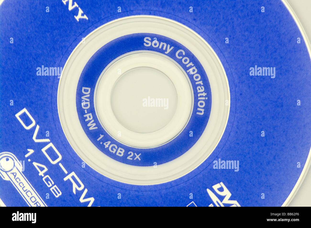 A Sony Re Recordable DVD RW Stock Photo