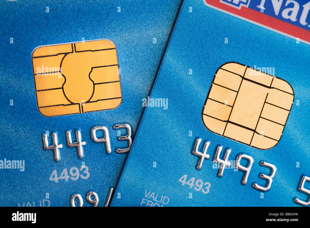 Smart chip and pin flash memory - Stock Image