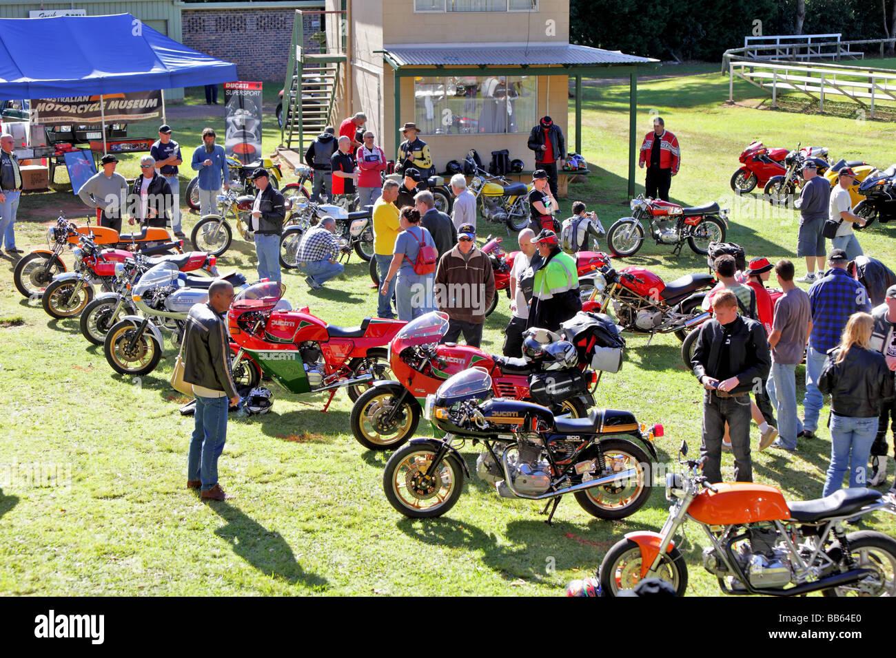 Ducati motorcycle owners meet - Stock Image