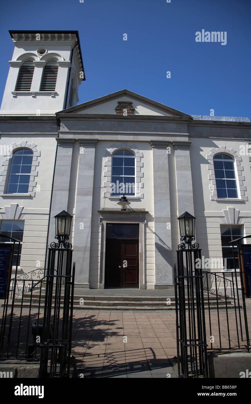 The first presbyterian church in Carrickfergus - Stock Image