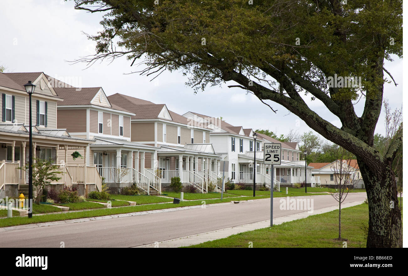 Biloxi Mississippi A public housing project built to replace housing destroyed by Hurricane Katrina Stock Photo