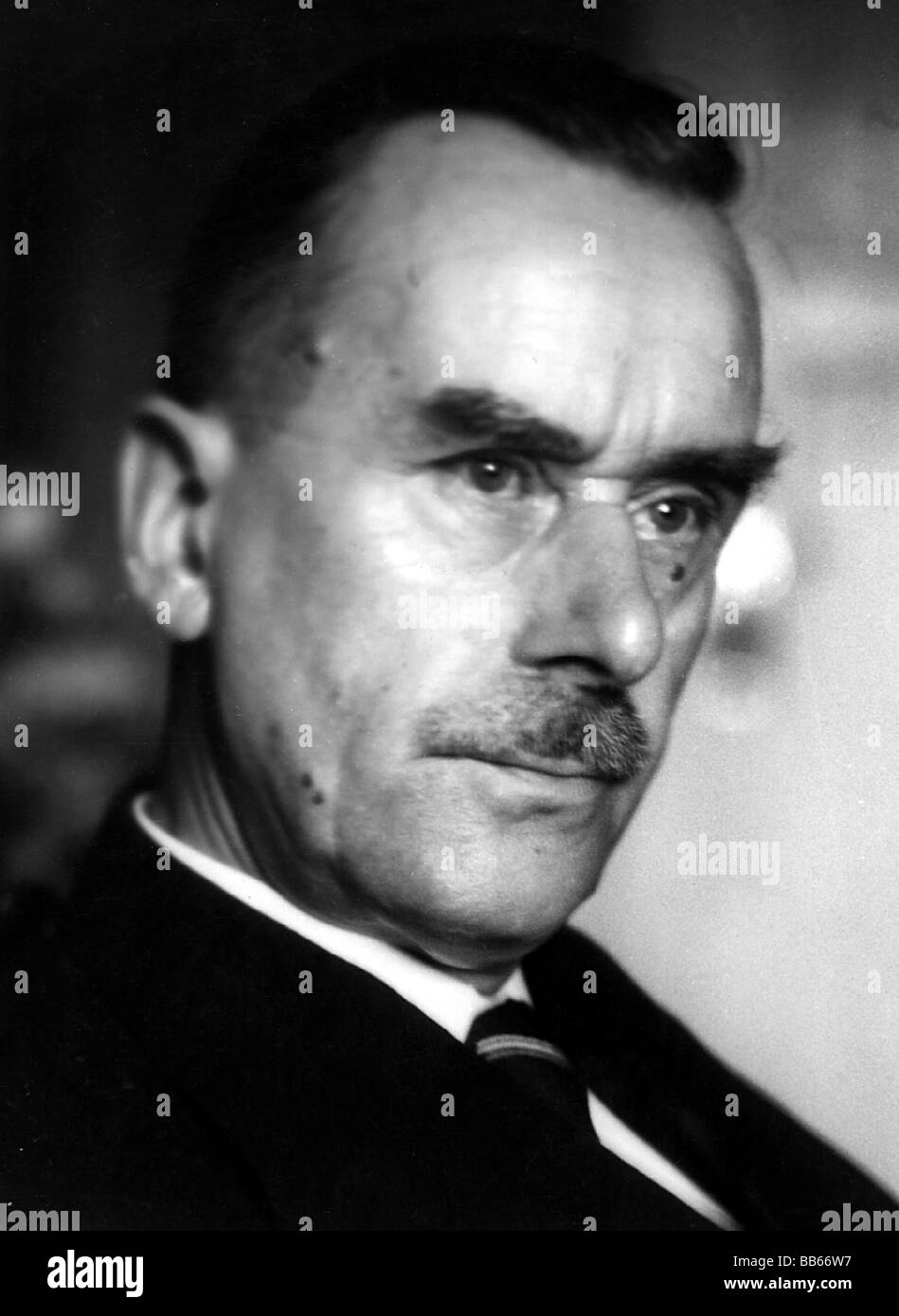 Mann, Thomas, 6.6.1875 - 12.8.1955, German author / writer, Nobel prize laureate for Literature 1929, portrait, Stock Photo