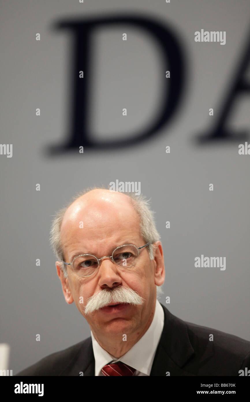 ZETSCHE CEO of Daimler AG - Stock Image