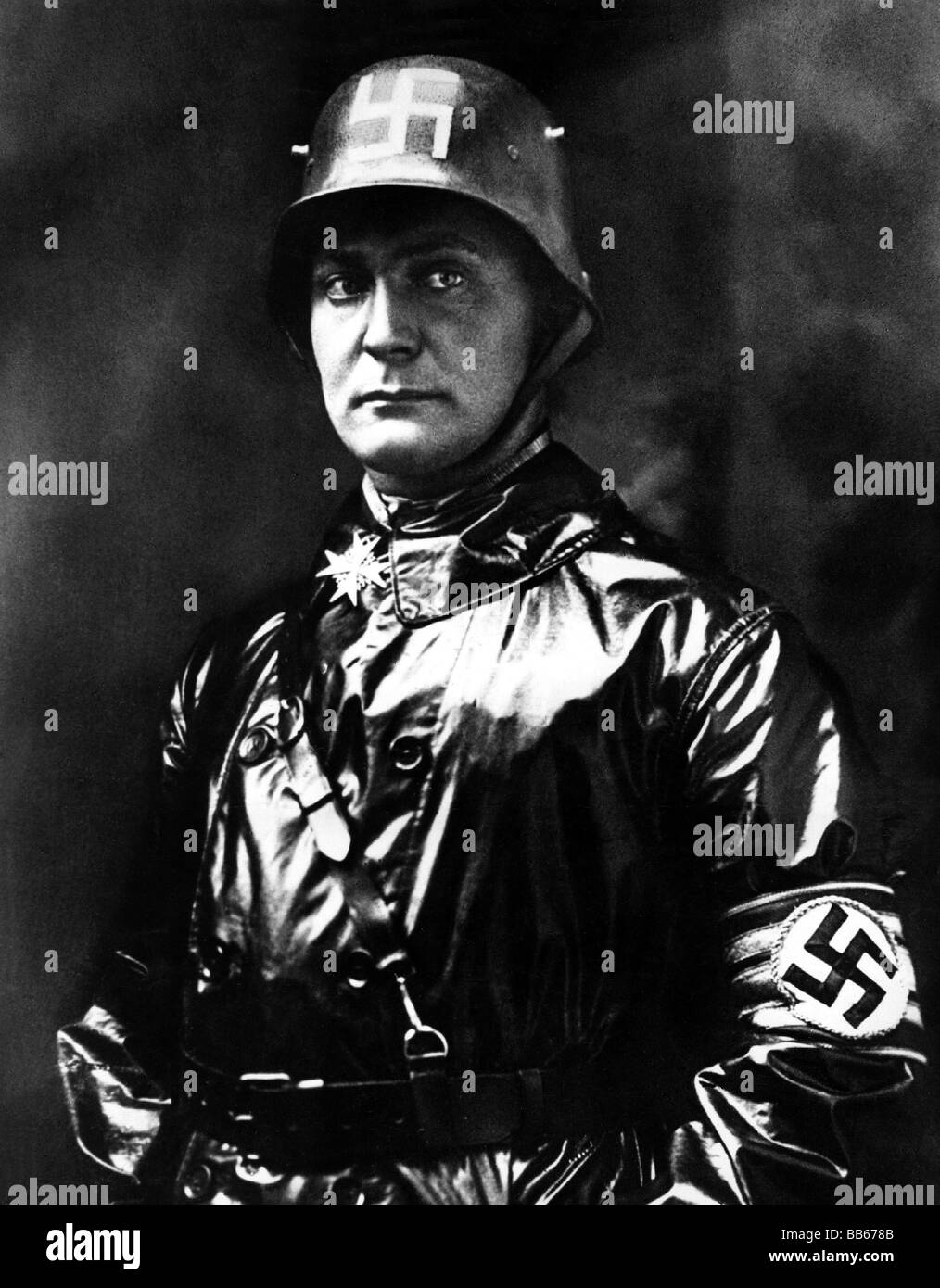 Goering, Hermann, 12.1.1893 - 15.10.1946, German politician (NSDAP), as Commander of SA, 1923, half length, , Additional - Stock Image