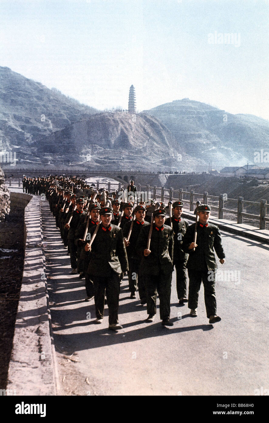 geography / travel, China, people, troop of worker, 1970s, Additional-Rights-Clearances-NA - Stock Image