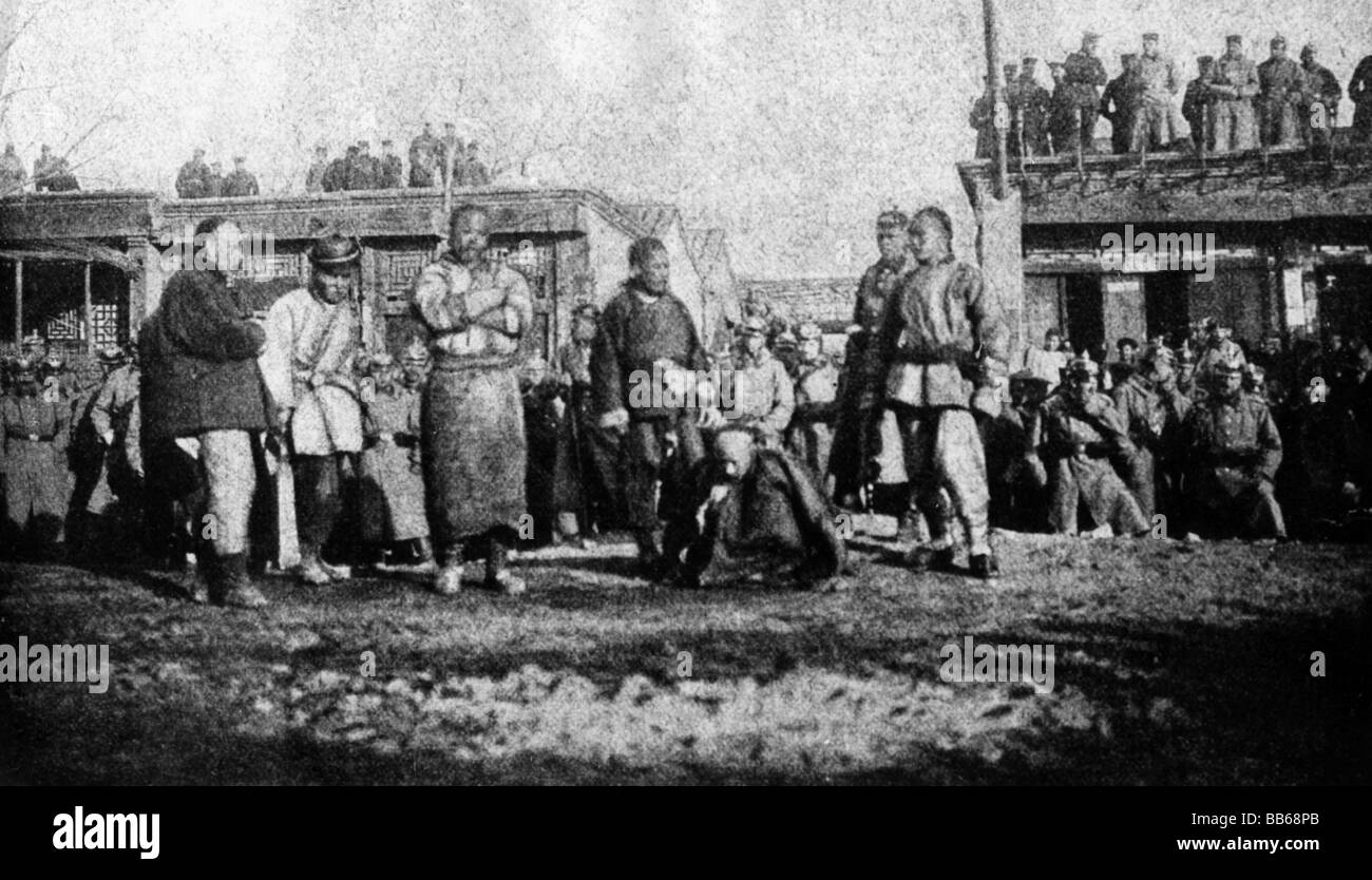 geography / travel, China, politics, Boxer Rebellion, execution of Captain En Hai, the murderer of the German envoy - Stock Image