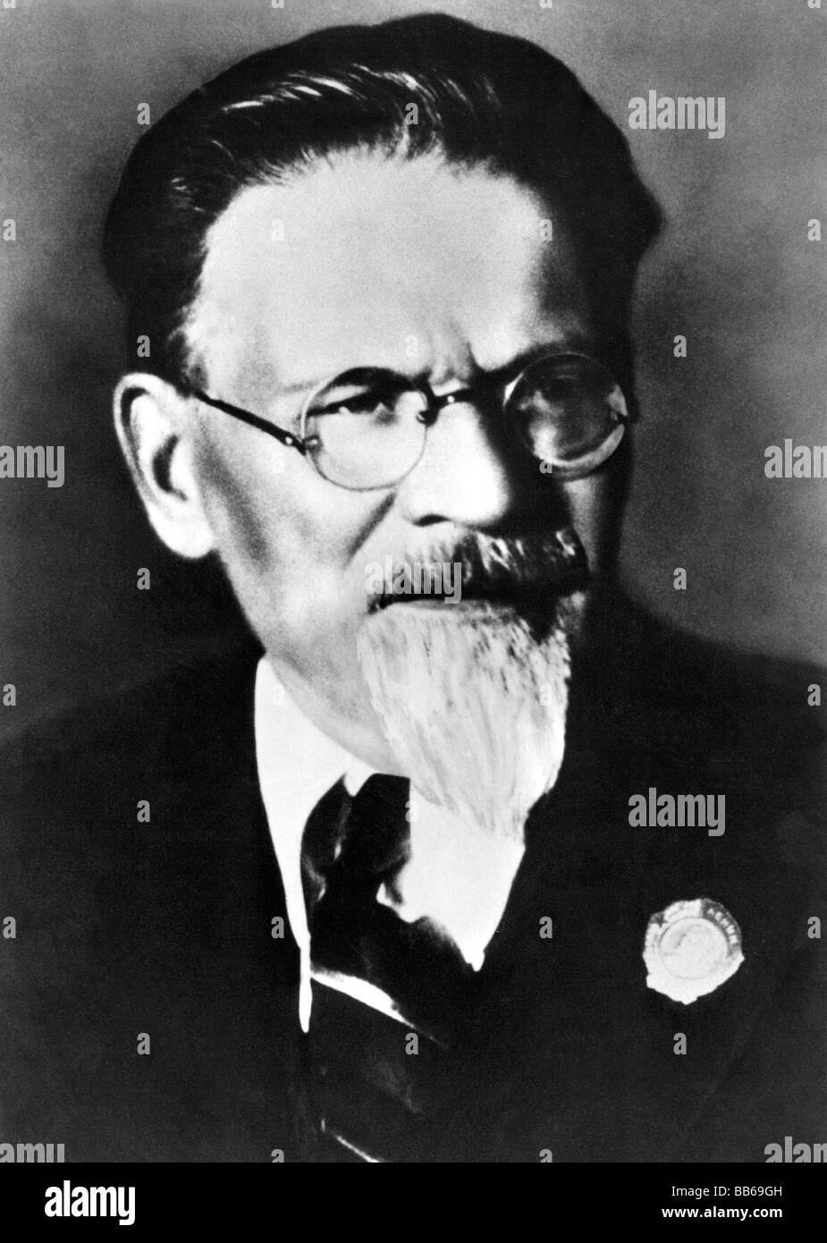 Kalinin, Mikhail Ivanovich, 19.11.1875 - 3.6.1946, Soviet politician, portrait, Additional-Rights-Clearances-NA - Stock Image
