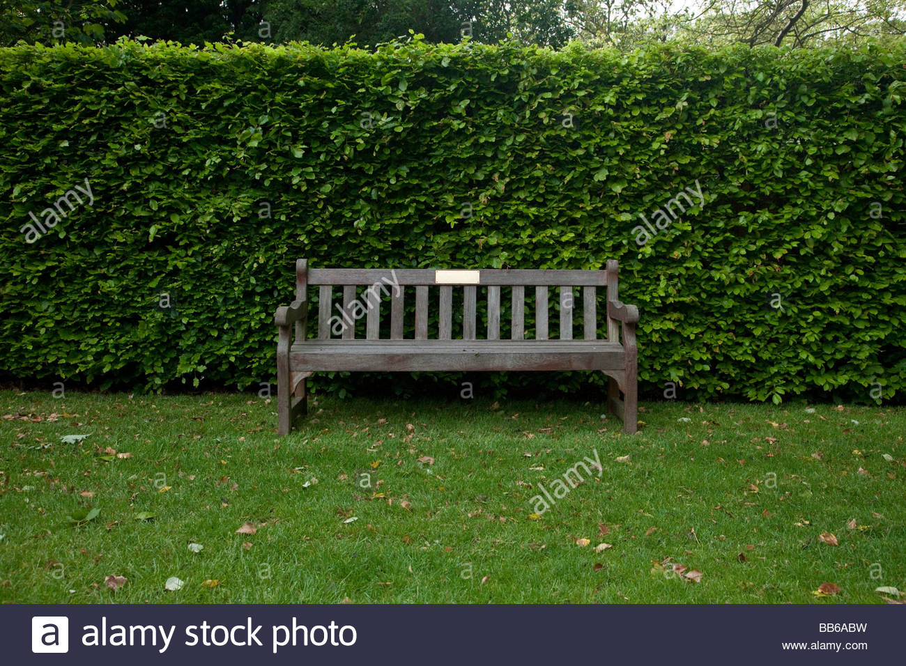 a park bench in england - Stock Image