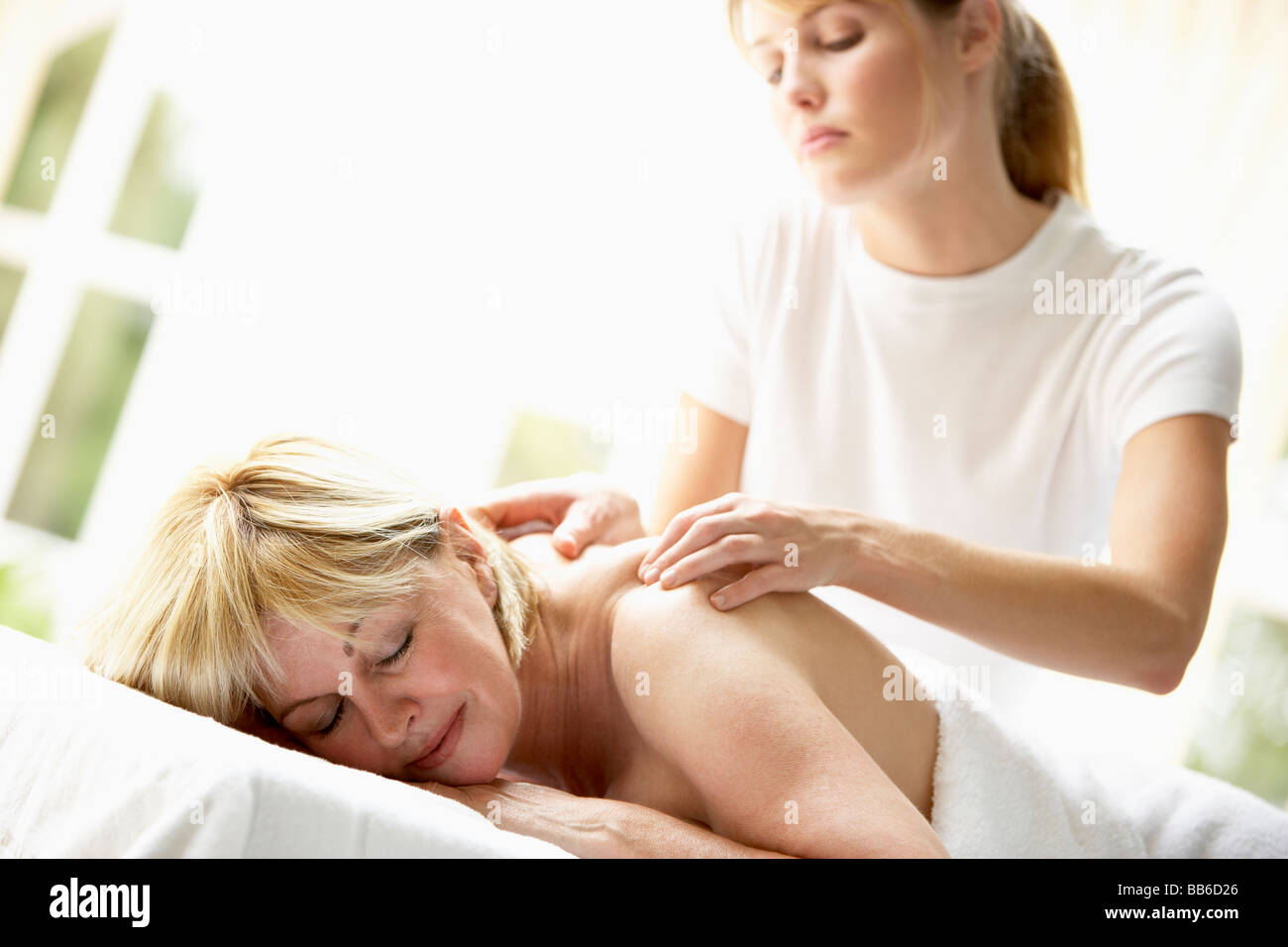 Blonde mature massage