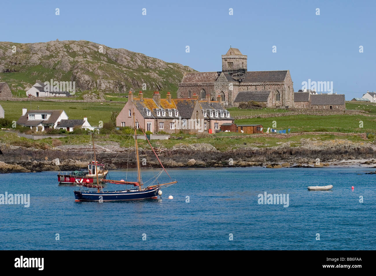 Scotland Argyll&Bute Iona Abbey - Stock Image