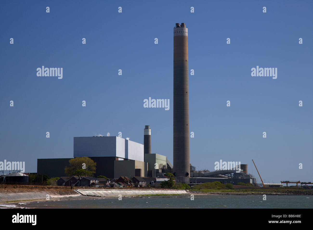 kilroot power station dual coal oil fired plant carrickfergus county antrim northern ireland uk owned by AES corporation - Stock Image