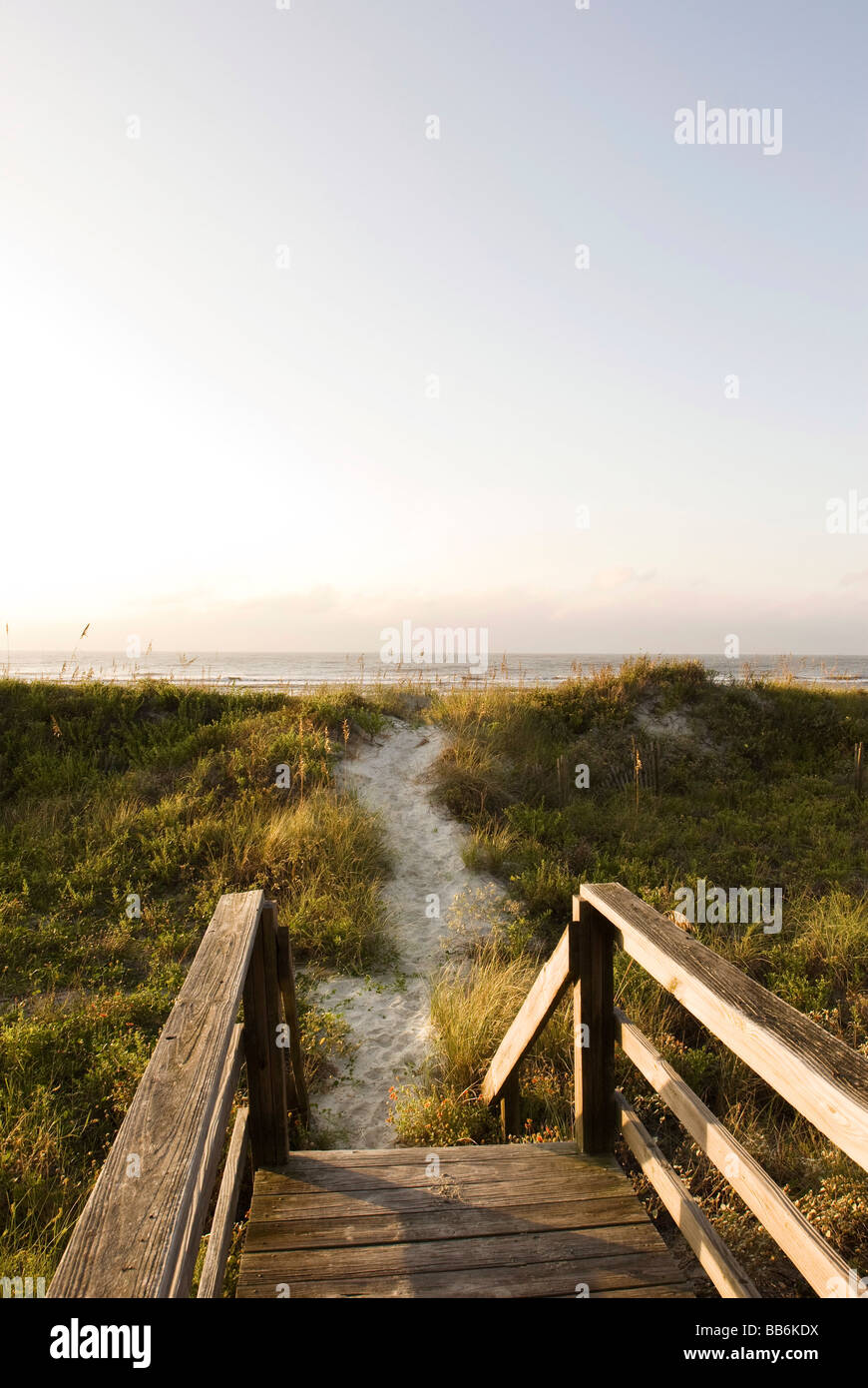 boardwalk leading to beach - Stock Image