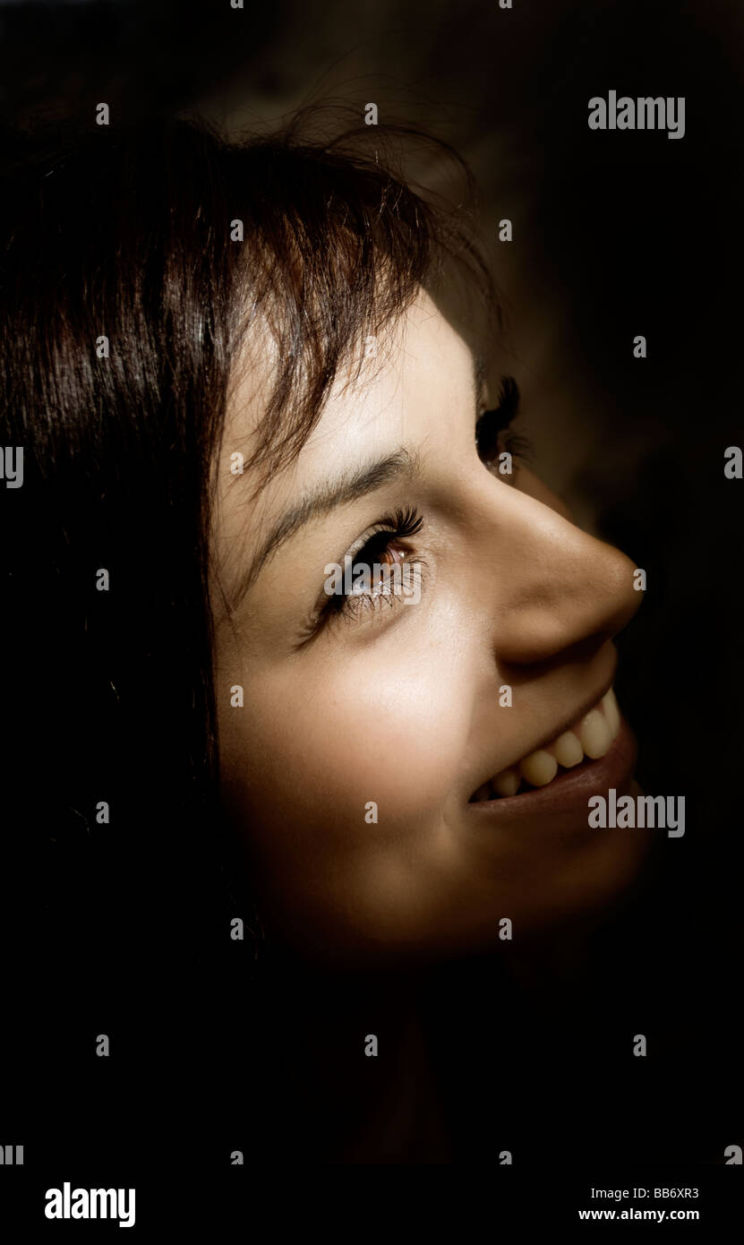 The smiling girl - Stock Image