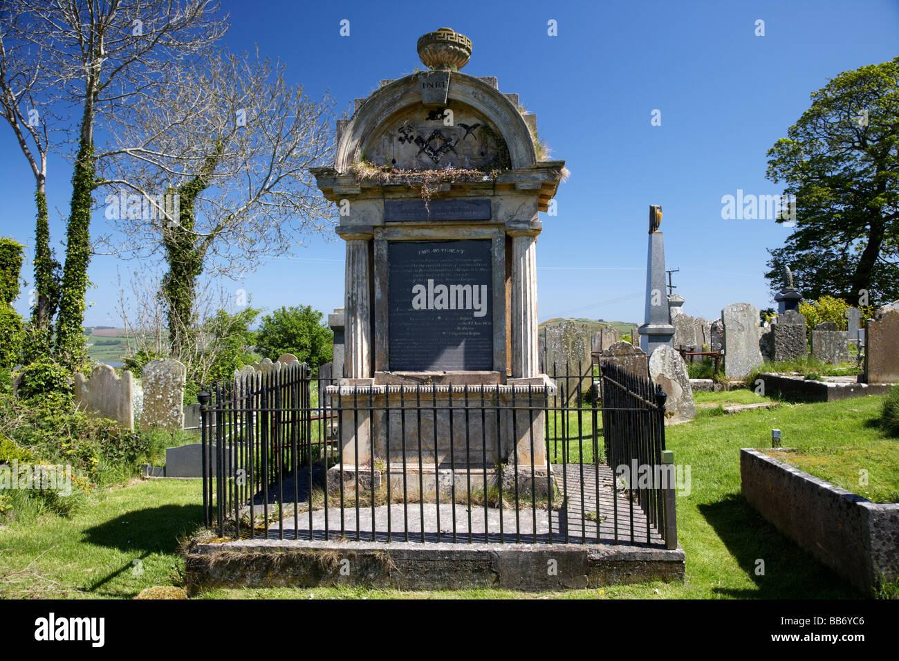 Irish poet James Orr memorial in Templecorran Cemetery Ballycarry county antrim northern ireland uk - Stock Image