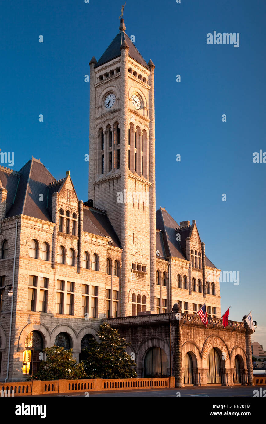 Union Station in Nashville Tennessee USA - Stock Image