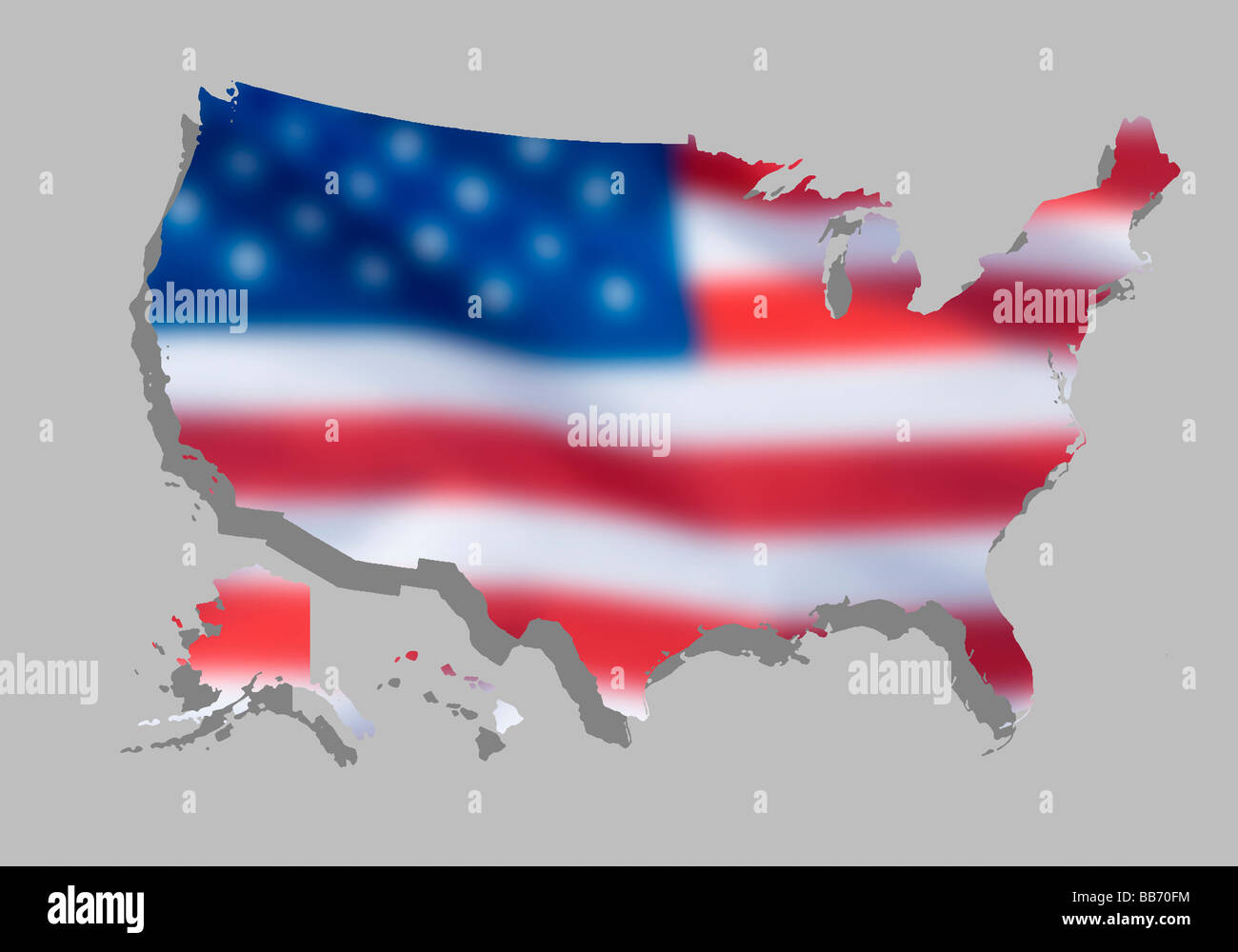 Map Of Country Usa.Map Of Country Usa Stock Photo 24125688 Alamy