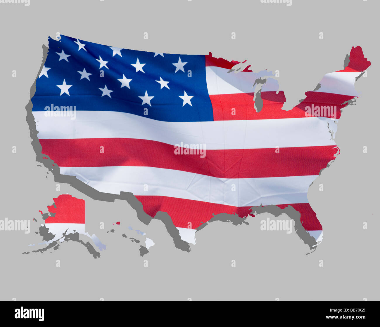 Map Of Country Usa.Map Of Country Usa Stock Photo 24125701 Alamy