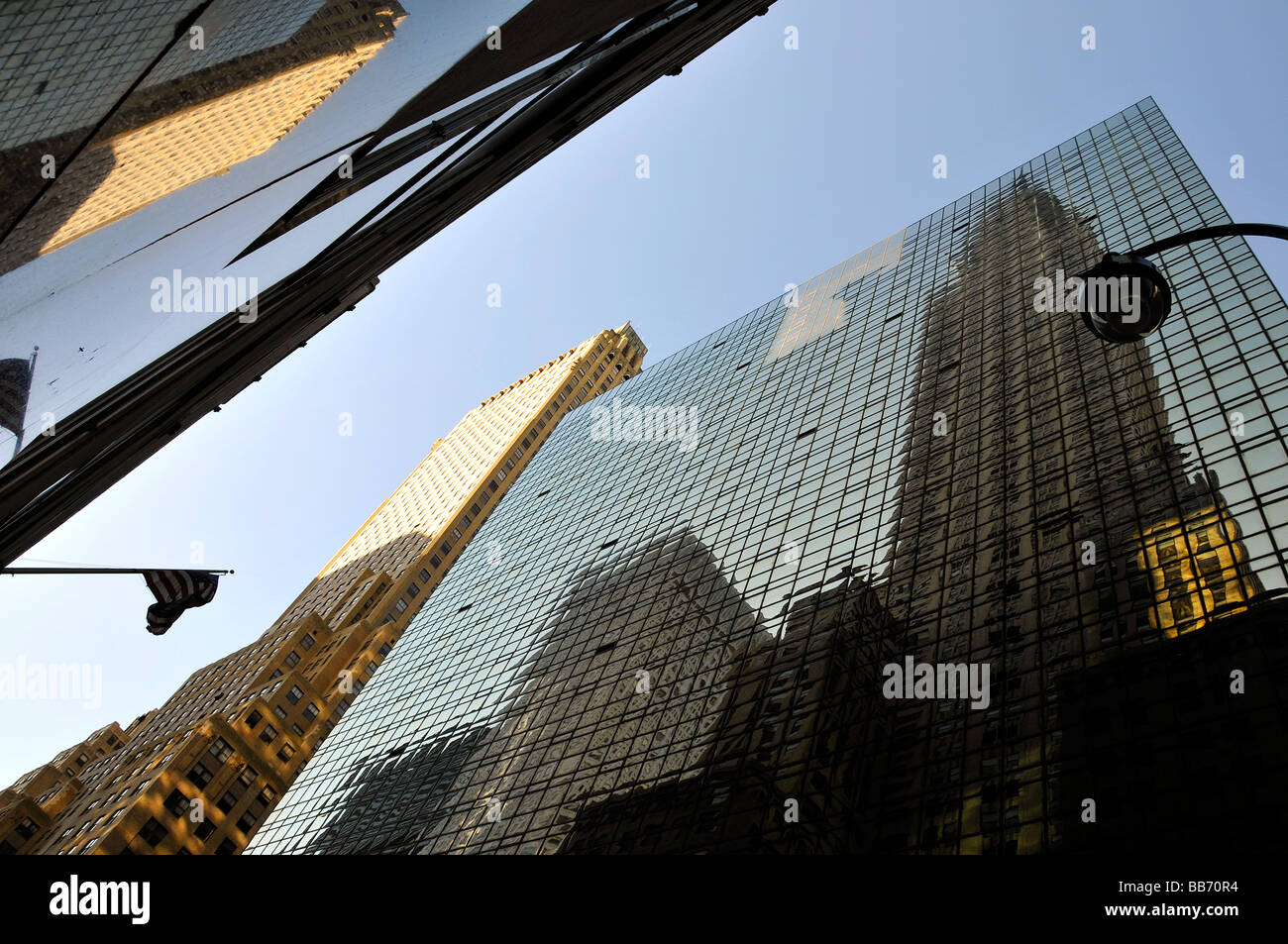 Group of skyscrapers- low angle view - Stock Image