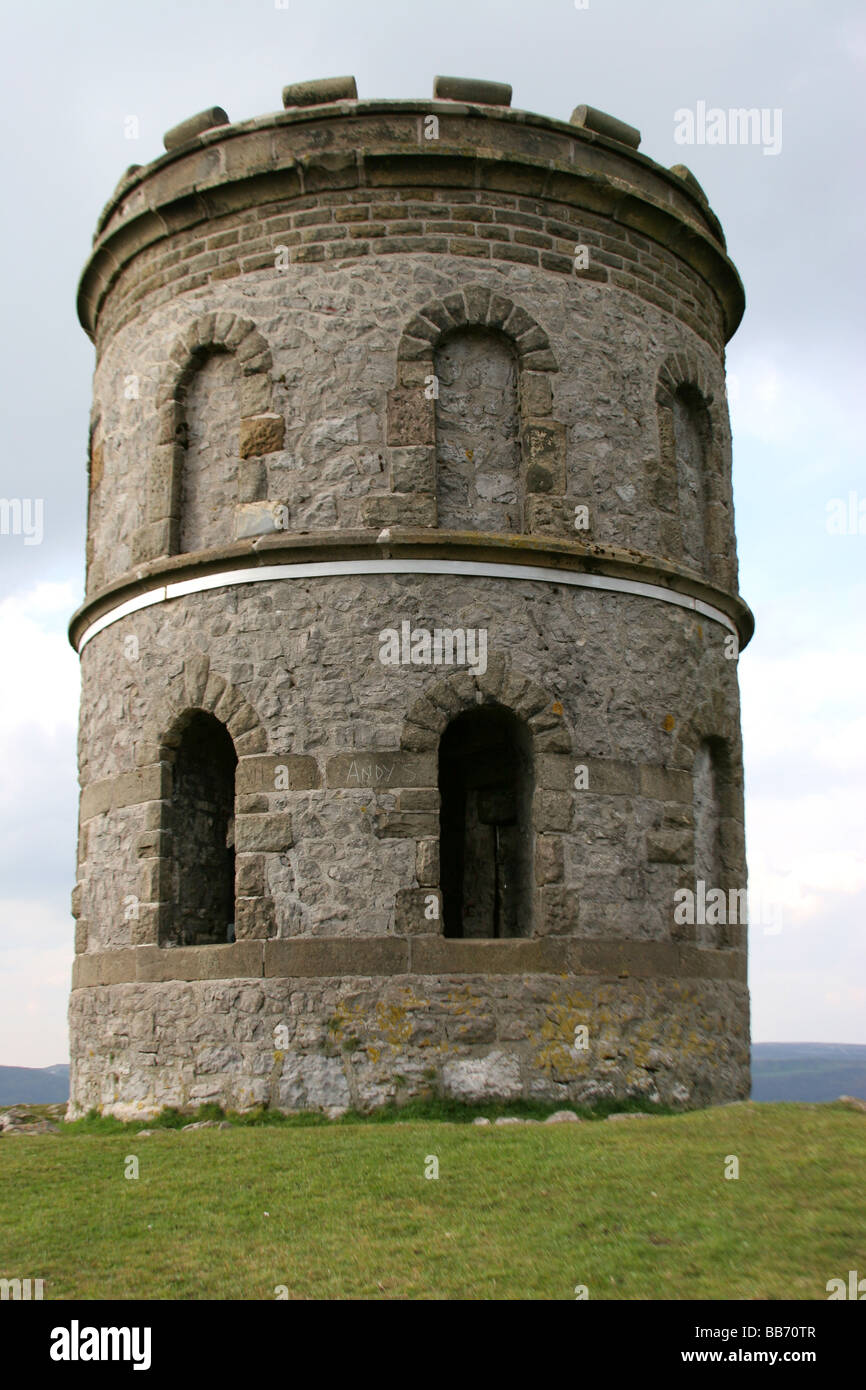 solomons temple grin hill nr pooles cavern buxton derbyshire built 1896 by solomon mycock - Stock Image