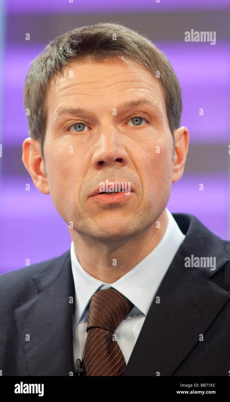 Rene OBERMANN CEO of Deutsche Telekom AG - Stock Image