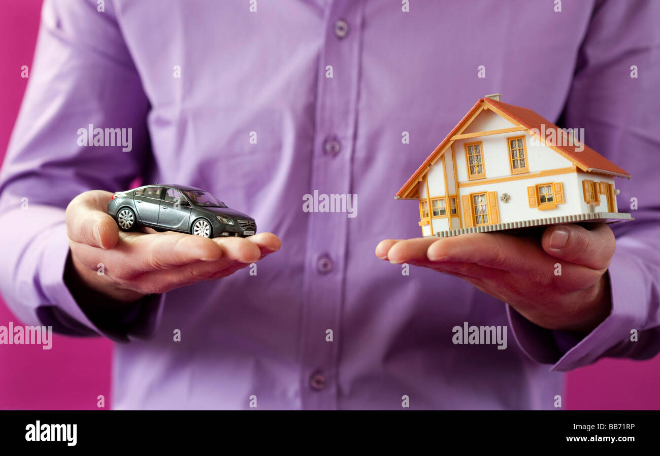 My house my car - Stock Image
