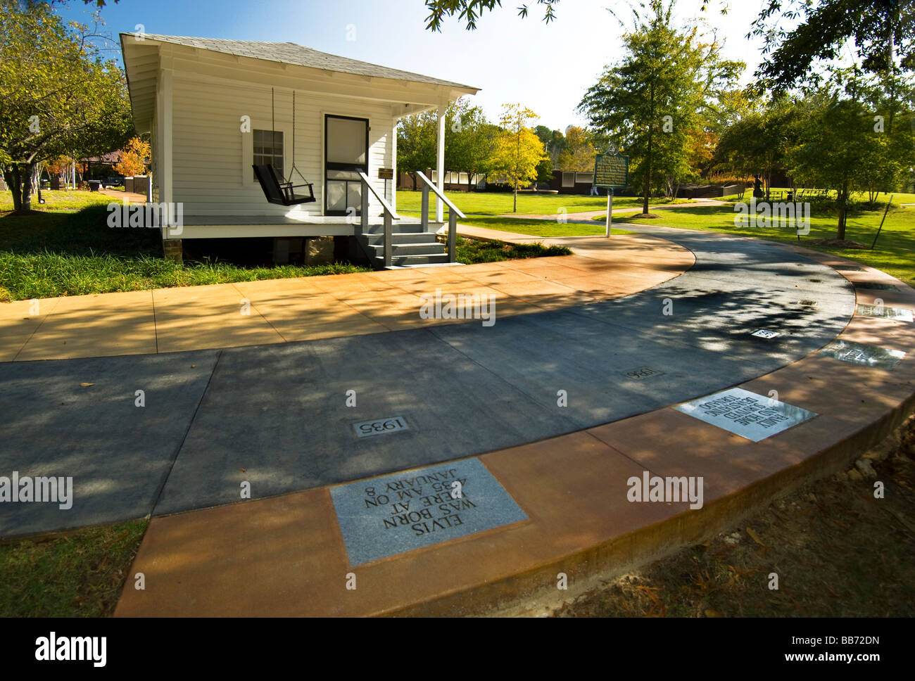 Birthplace of Elvis Presley in Tupelo Mississippi where he lived until he was 13 years old - Stock Image