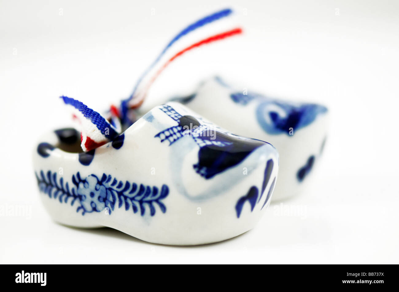 souvenirs Dutch Shoe, Porcelain Dutch clogs - Stock Image
