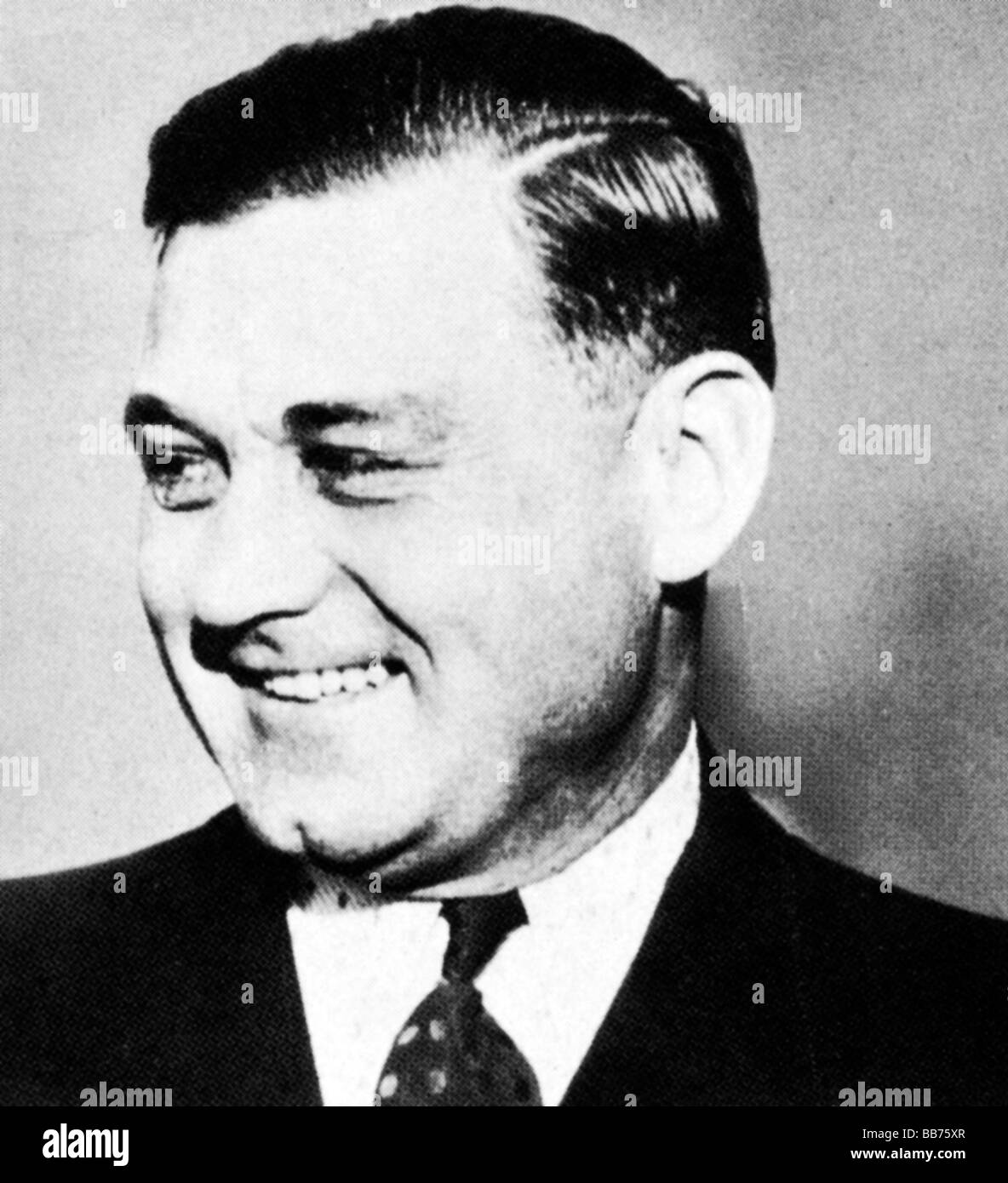 George Bugs Moran photo of the prohibition gangster leader of the North Side gang rivals to Capone in Chicago - Stock Image