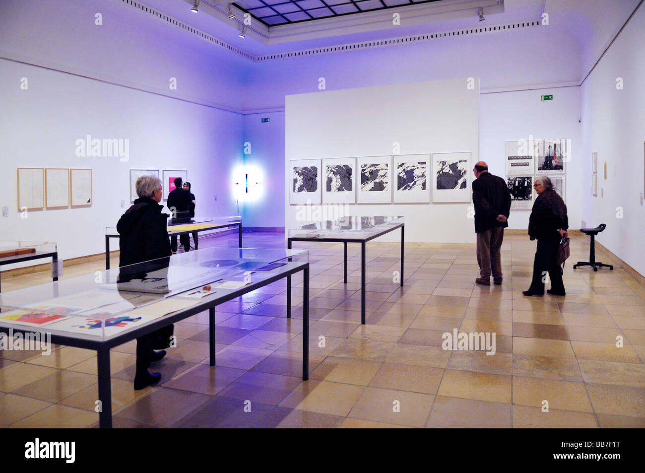 Exhibition in the Haus der Kunst, House of Art, Munich, Bavaria, Germany, Europe Stock Photo